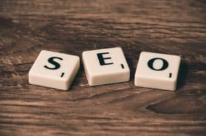 SEO spelled out in Scrabble letters for an SEO evaluation